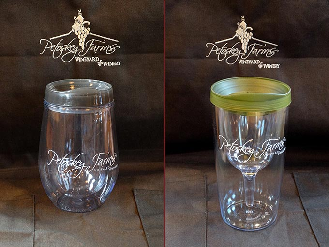 Insulated, Lucite Wine Glasses